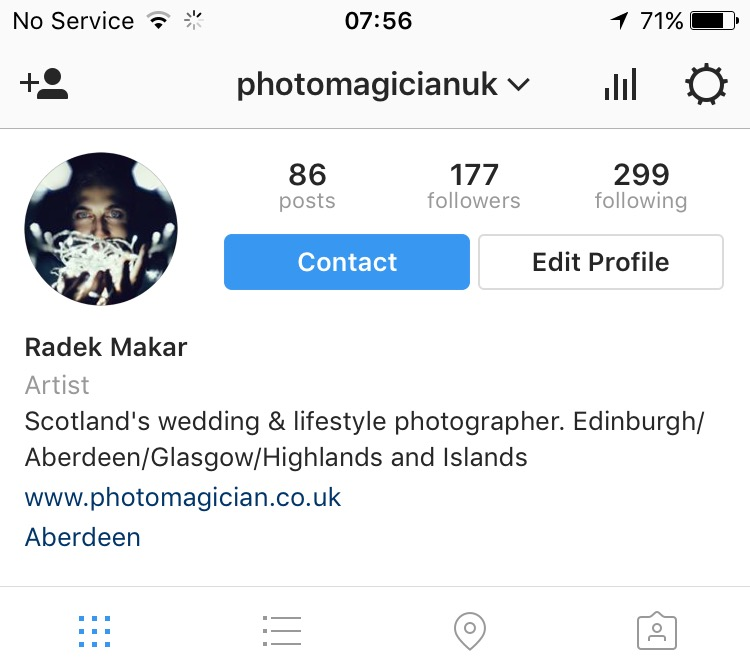 Instagram business or personal account