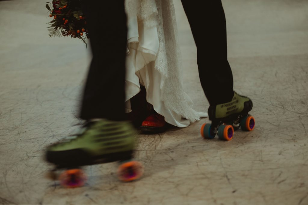 married and skating