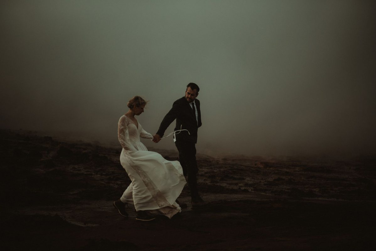Wedding portrait of a couple in Glencoe