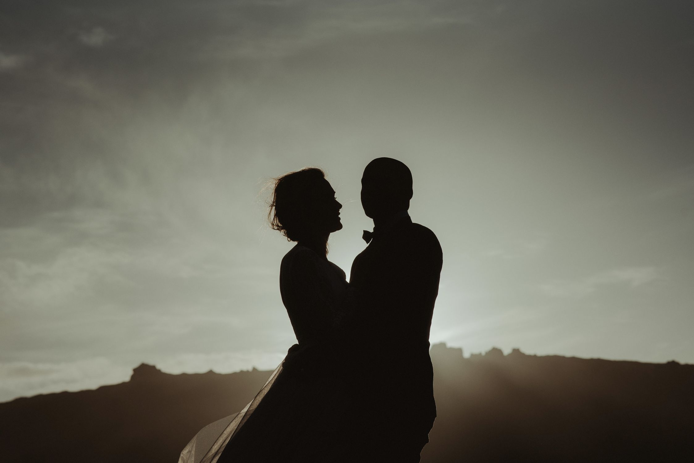 Snaefellsnes silhouette of couple