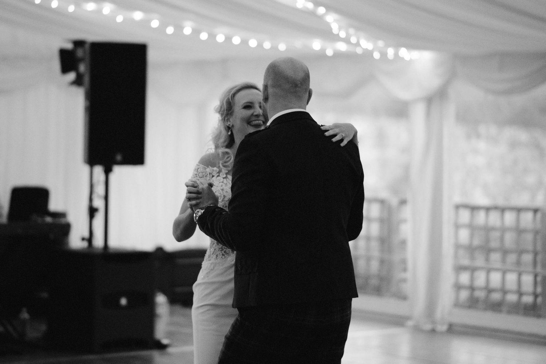 First dance at Elsick House wedding