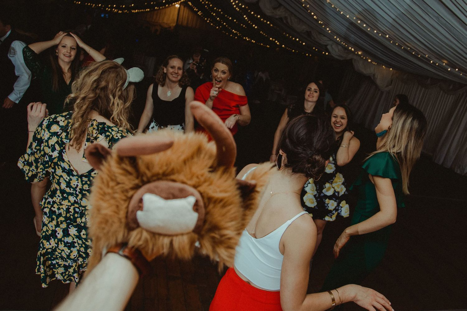 Evening party at Elsick House wedding