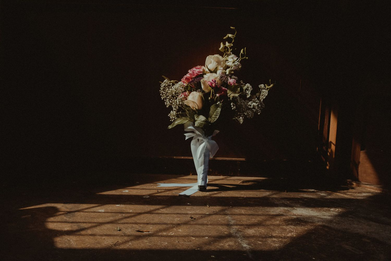 Wedding bouquet at Elsick House