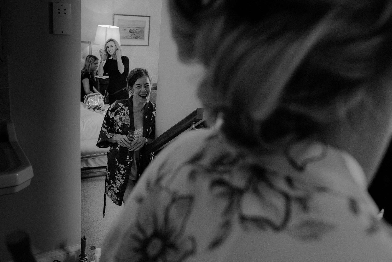 Bride preparations at Elsick House