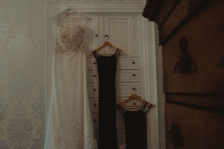 Wedding dresses at Elsick House