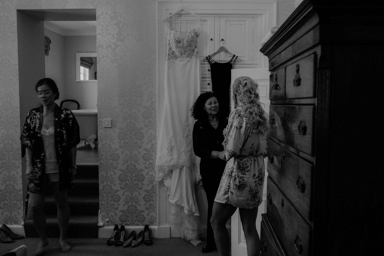 Bridal preparations at Elsick House