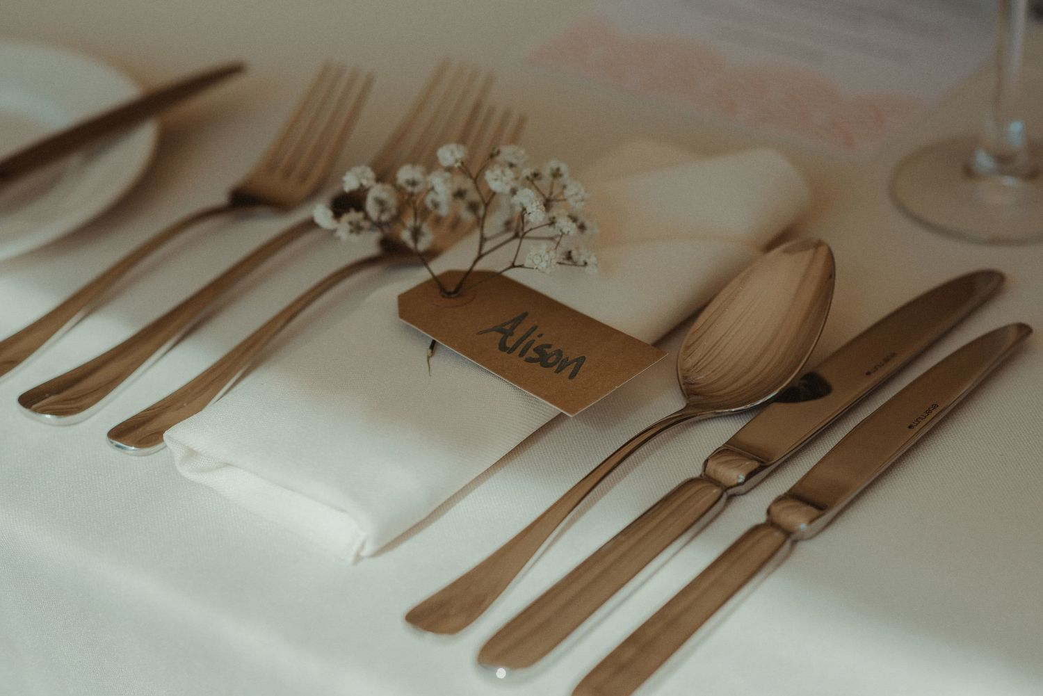 Elsick House tables ready for wedding
