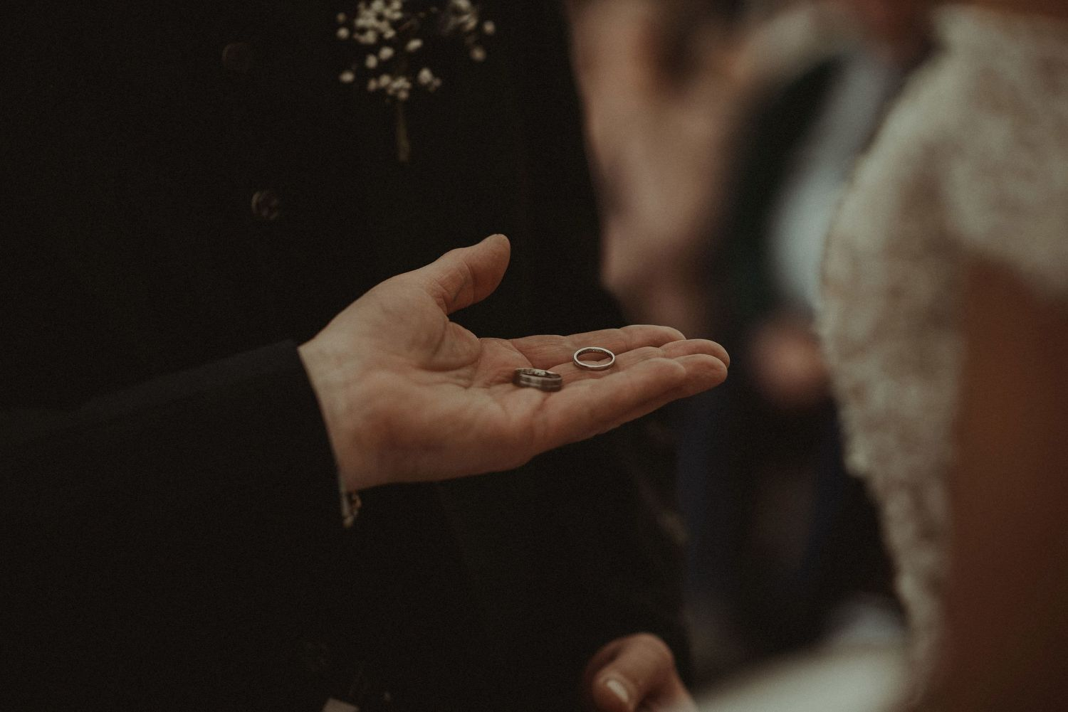 Wedding rings at Elsick House