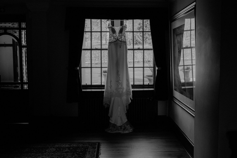 Bride's dress at Elsick House Wedding