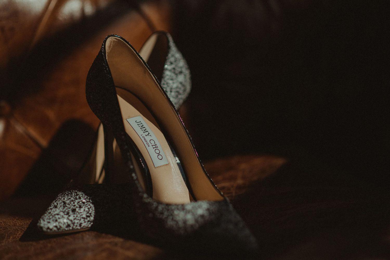 Jimmy Choo shoes at Elsick House Wedding