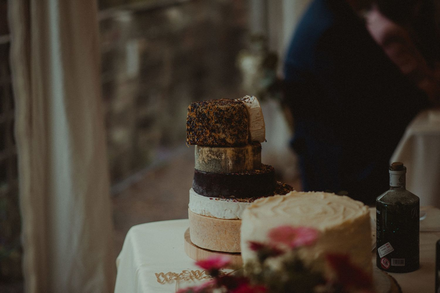 Cheese cake at Elsick House wedding