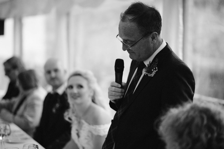 Speeches at Elsick House Wedding